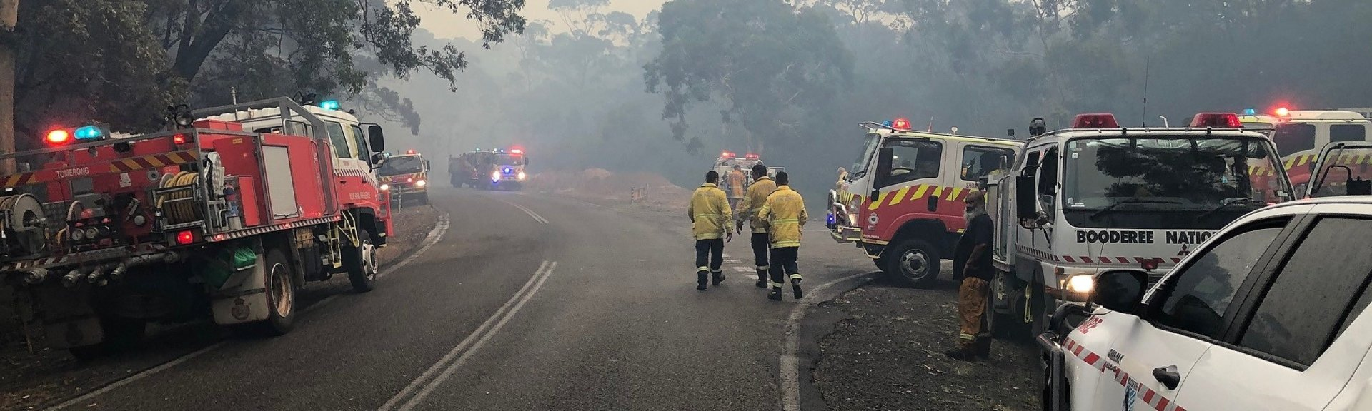 Firefighters at Booderee National Park