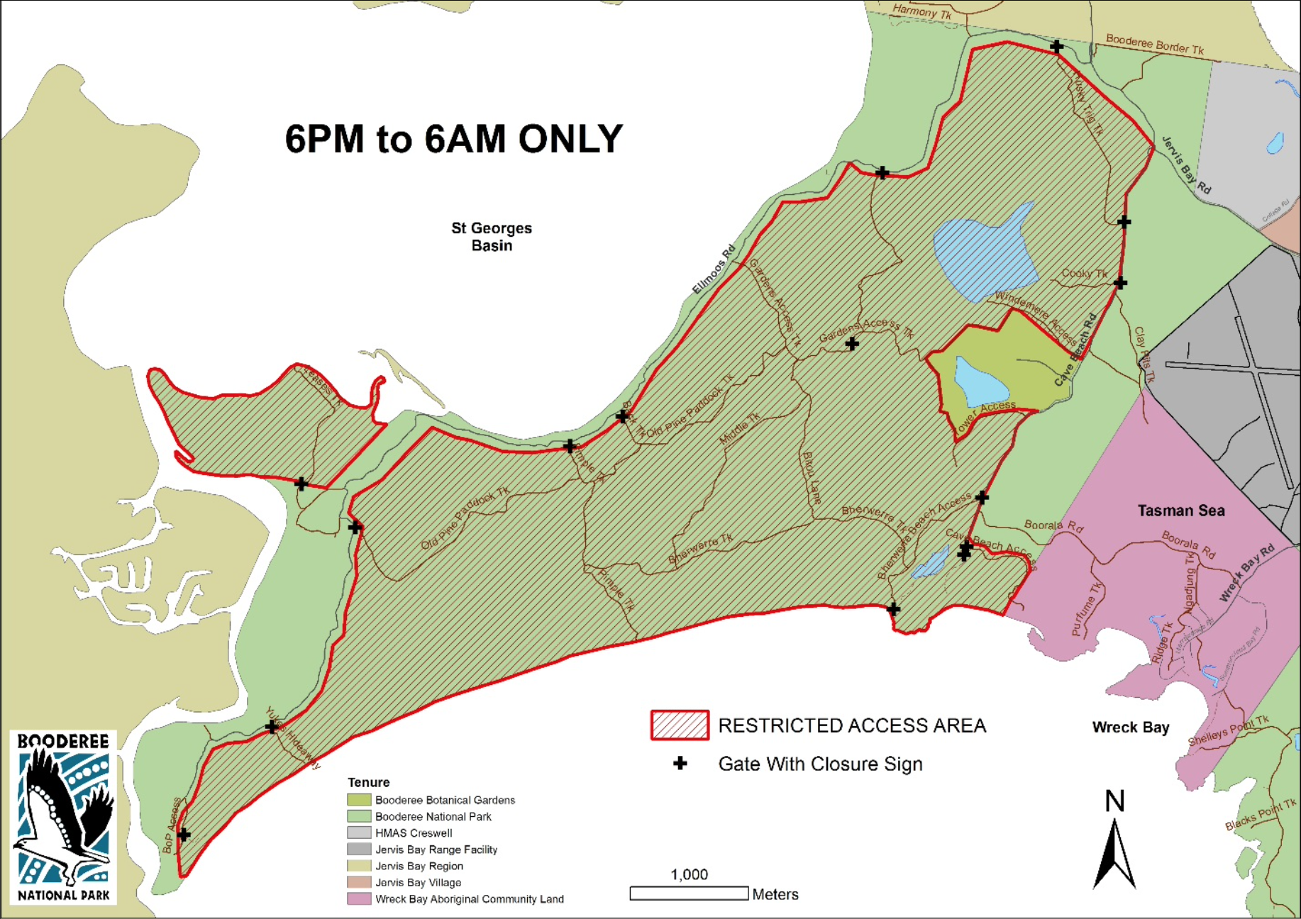 Restricted access map