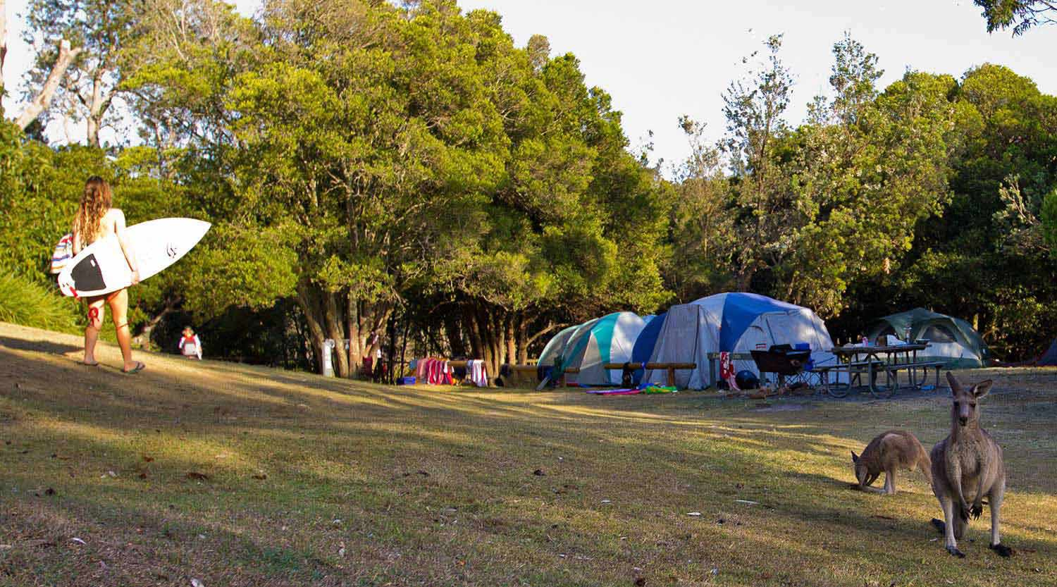 Camping at Cave Beach, Booderee National Park