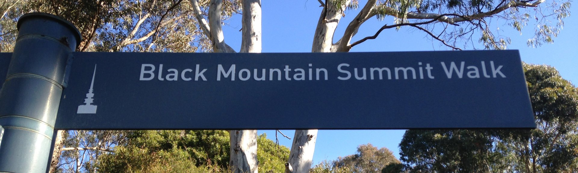 Directional signs to the summit of Black Mountain