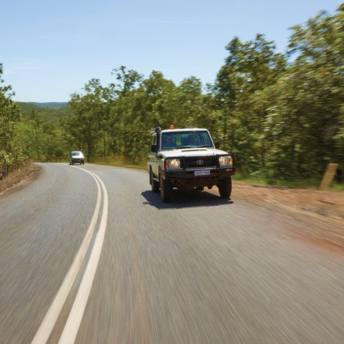 Driving in Kakadu. Photo by Peter Eve, Tourism NT.