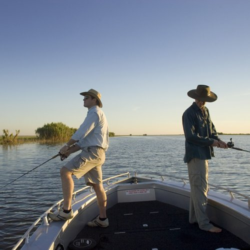 Two men fishing. Photo by Peter Eve, Tourism NT.