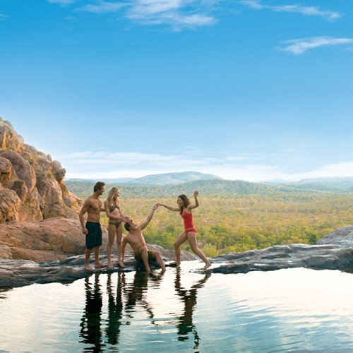 Swimming at Gunlom. Photo by Tourism NT.