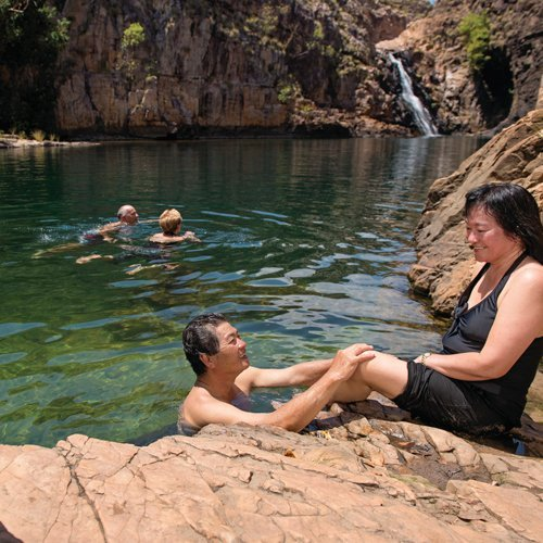 Swimming at Maguk. Photo by Tourism NT.