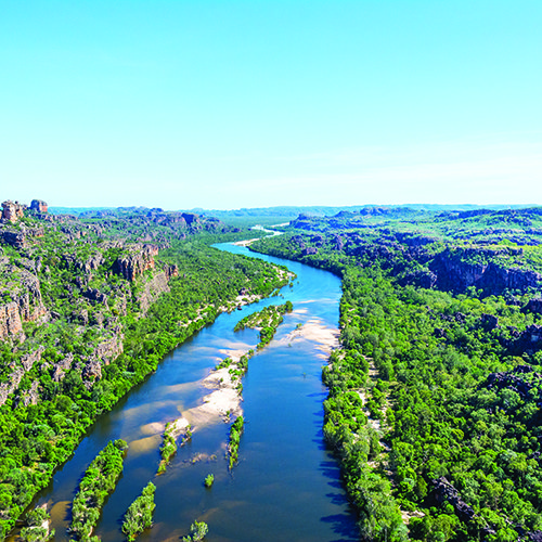 East Alligator from the air. Photo by Kakadu Air.