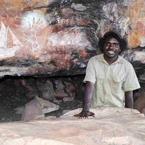 Manbiyarra at Jacobs Hand. Photo by Kakadu Cultural Tours.