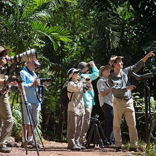 Visitors on an NT Bird Specialists' tour. Photo by Luke Paterson.