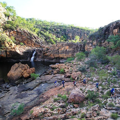 Bushwalkers in Kakadu. Photo by Trek Tours.