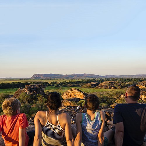 Visitors at Ubirr Lookout. Photo by Shaana McNaught.