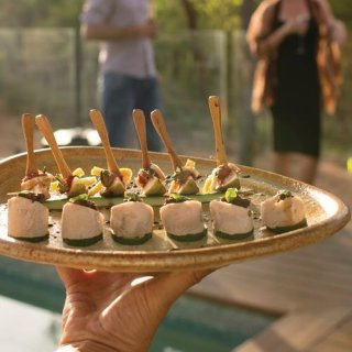 Canapes in Kakadu. Photo by Shaana McNaught. Tourism NT.