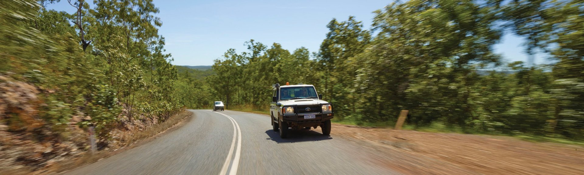 Driving in Kakadu. Photo: Peter Eve, Tourism NT