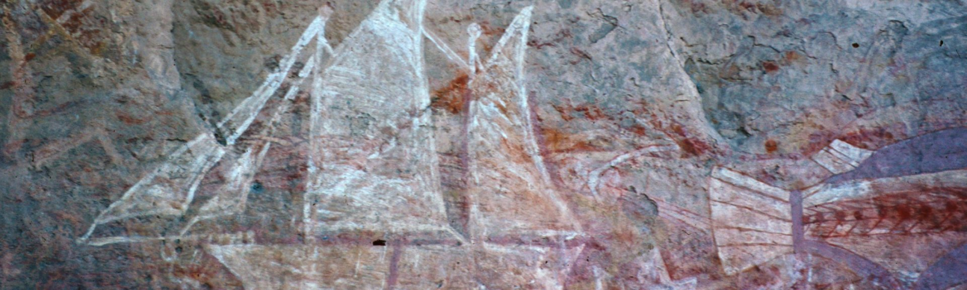 First contact rock art, Nanguluwurr, Burrungkuy (Nourlangie). Photo: Parks Australia.