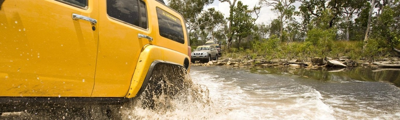 Four-wheel driving in Kakadu Photo by Tourism NT.