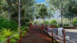 Cahills crossing viewing area artist's impression
