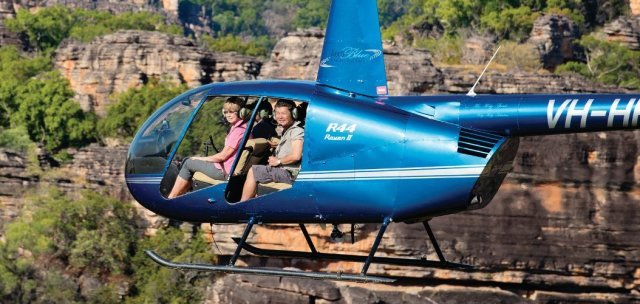 Helicopter flight. Photo: Tourism NT.