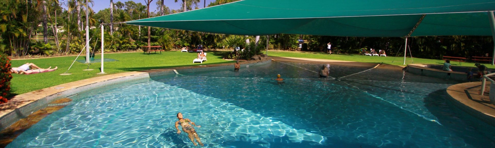 Kakadu Lodge swimming pool and gardens. Photo by Kakadu Lodge.