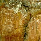 Nourlangie (Burrungkuy) rock art. Photo by Peter Eve, Tourism NT.
