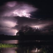 Storm over the floodplains. Photo by Tourism NT