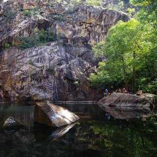 Stone escarpments on a Kakadu Walking Holiday adventure. Photo: Rhys Clarke