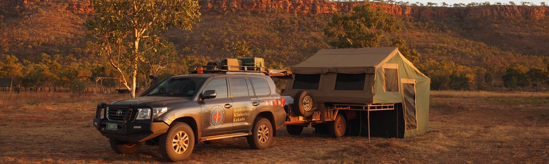 The spacious, comfortable camper trailer. Photo: Charter North 4WD Safaris