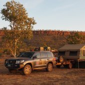 Visitor relaxing in the water at Kakadu National Park. Charter North 4WD Safaris.