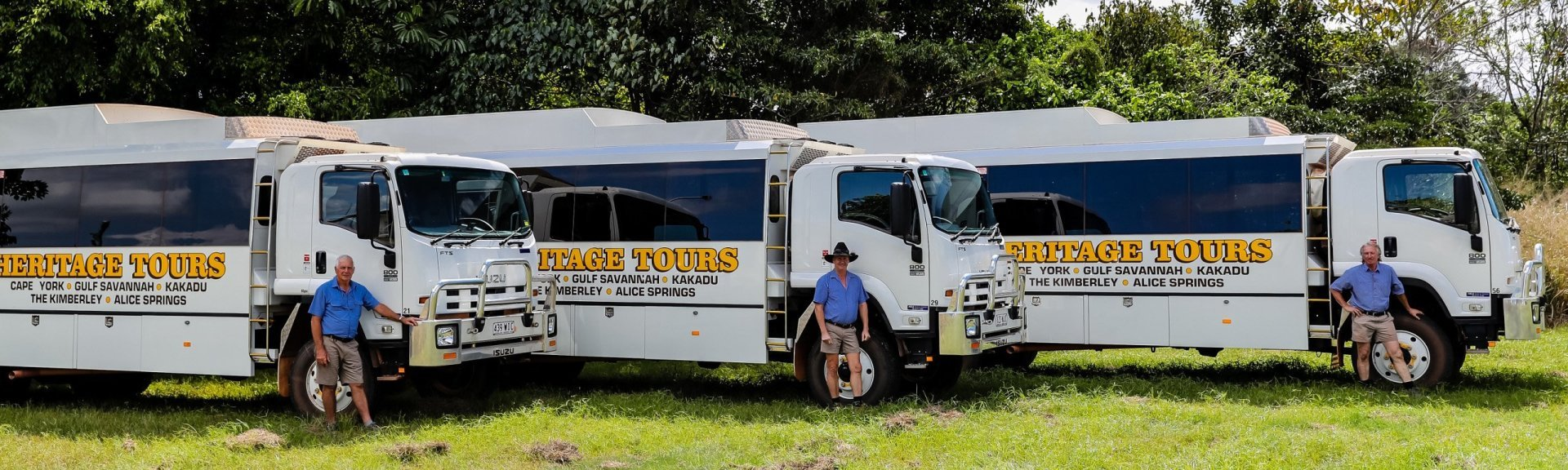 Heritage 4WD Safari buses. Photo: Gordon Greaves
