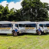 Heritage 4WD Safari buses. Photo by Gordon Greaves.