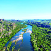 East Alligator from the air. Photo: Kakadu Air