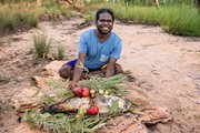 Man with bush foods