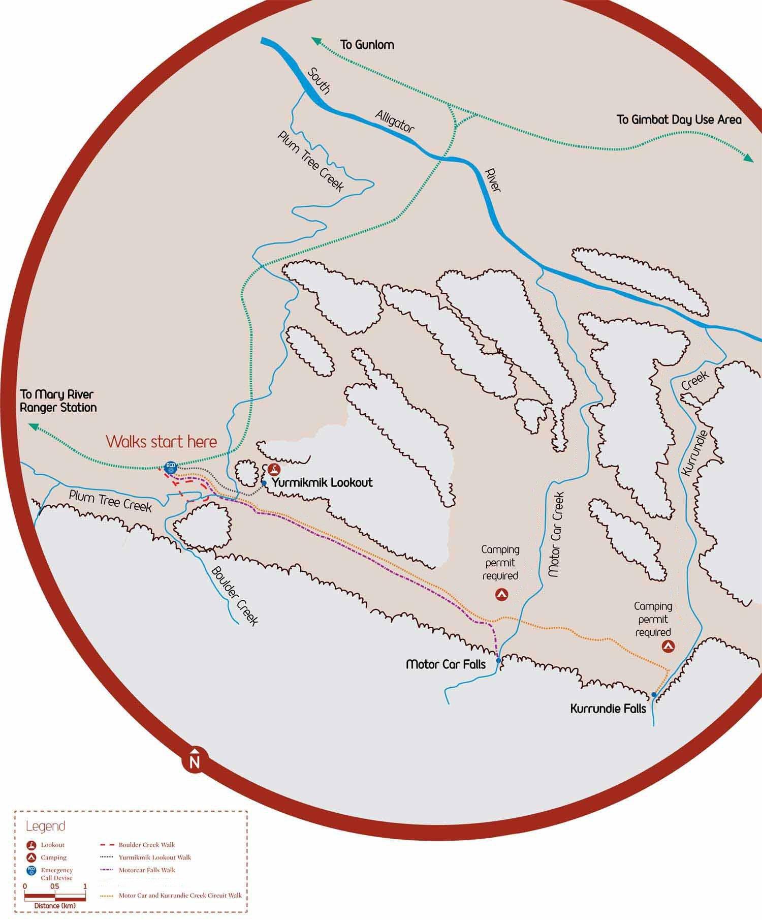 Map of Yurmikmik Walks