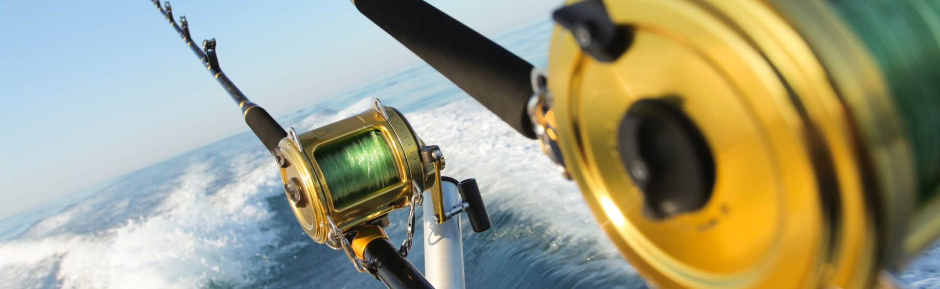 Shutterstock 95447302 big game fishing reels.