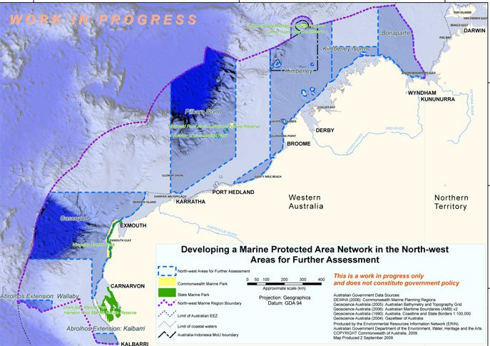 Map of Areas for Further Assessment in the North-West Marine Region