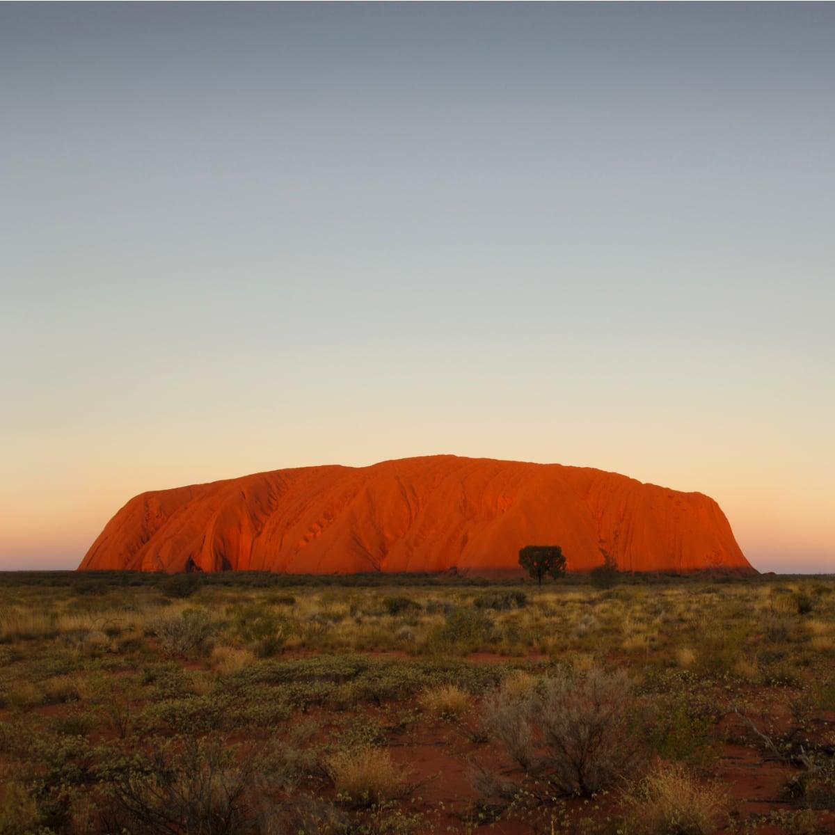 Ayers Rock Or Uluru Uluru Kata Tjuta National Park