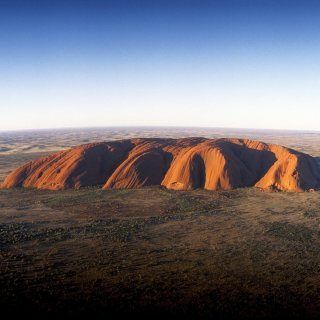 Uluru from the air. Photo: Tourism Australia