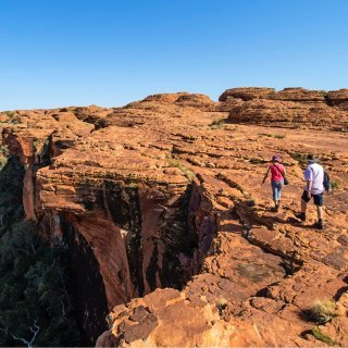 Rim walk at Kings Canyon. Photo: Shaana McNaught / Tourism NT