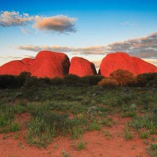 Kata Tjuta at sunset. Photo: Maree Clout