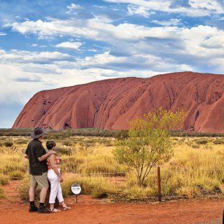 Uluru sunset viewing area. Photo: Tourism NT