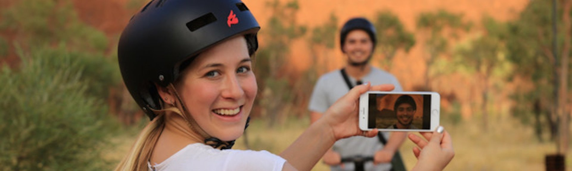 Exploring Uluru by Segway. Photo: Uluru Segway Tours